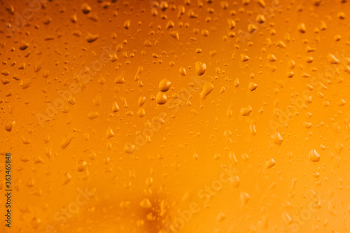 Raindrops on window glass,condensation on the window,natural background,color te Canvas Print