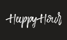 Happy Hour Chalk White Text Le...