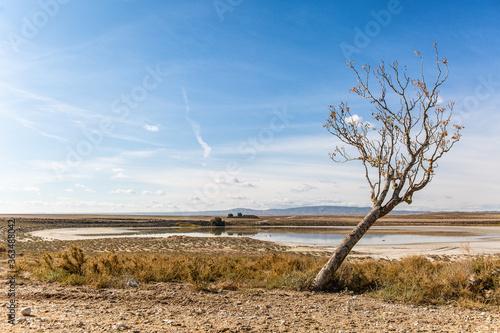 Платно Scenic View Of Land Against Sky