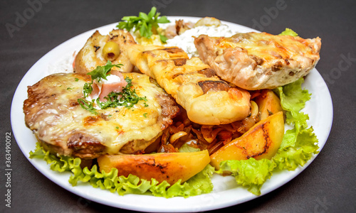 Fototapety, obrazy: High Angle View Of Meal Served In Plate