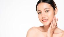 Close Up Beautiful Young Asian...