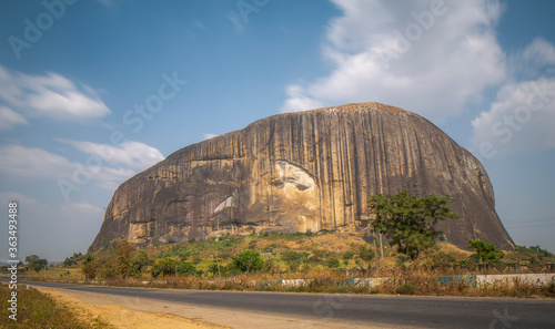 Obraz na plátně Zuma Rock, Located In Niger State Of Nigeria. Not Far From Abuja.