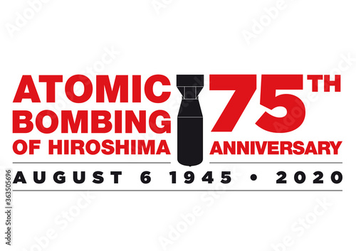 Fotografia Logo for the 75th anniversary of Atomic Bombing of Hiroshima