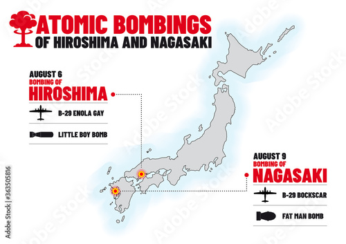 Papel de parede Infographics for the 75th anniversary of Atomic Bombings of Hiroshima and Nagasa