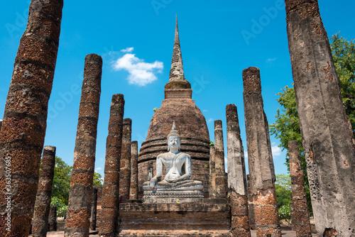 Obraz na plátně Wat Sra Sri in Sukhothai Historical Park, Sukhothai, Thailand