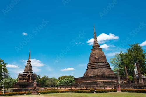 Fototapeta Wat Sra Sri in Sukhothai Historical Park, Sukhothai, Thailand