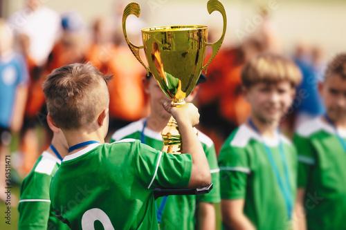 Photo Happy Kids Celebrating Team Sport Success