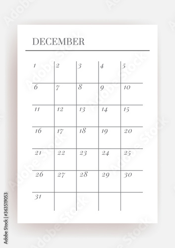 Fotografia Planner sheet vector. Printable vertical notebook page