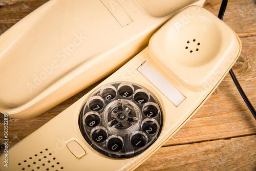 Obraz na plátně Old dial phone