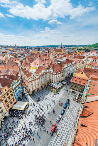 Photo Old Town Square in Prague, Czech Republic.