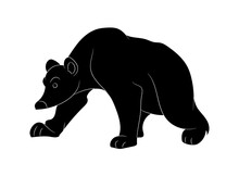 Vector Illustration Of A Bear ...