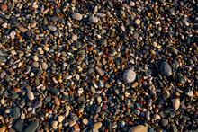 Pebbly Beach Coastline, Textur...