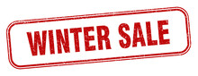 Winter Sale Stamp. Winter Sale...
