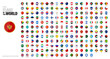 Round Shaped Flags of the World. Flags with reflection