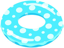 青い浮き輪