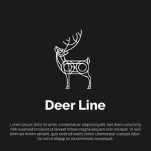 Vector Illustration Of Deer Wi...