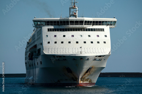 cruise ship prow bow detail Canvas