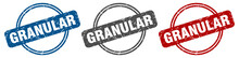 Granular Stamp. Granular Sign....