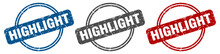Highlight Stamp. Highlight Sign. Highlight Label Set