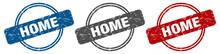 Home Stamp. Home Sign. Home La...