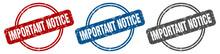 Important Notice Stamp. Import...
