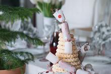 Close-up Of Christmas Cake