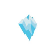 Logo Design Iceberg Icon Vector