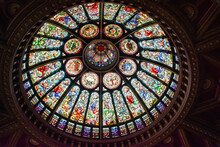 Gorgeous Stained Glass Dome At...