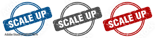 Stampa su Tela scale up stamp. scale up sign. scale up label set