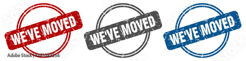 we've moved stamp. we've moved sign. we've moved label set Wallpaper Mural