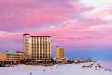 Gorgeous, Colorful Sunset In Pensacola Florida