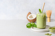 Iced Latte Green Matcha Tea Wi...