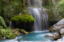 Waterfall In The Woods. Long E...