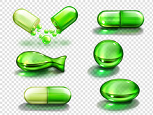Green Capsules With Vitamin, C...