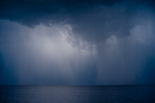 Lightning Over The Sea In The ...