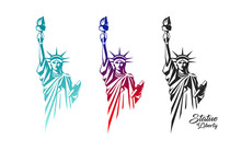 The Statue Of Liberty Vector, ...
