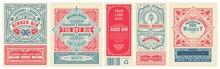 Set Of 4 Vintage Labels For Pa...