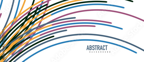 Аbstract moving colorful lines vector backgrounds for cover, placard, poster, ba Canvas Print