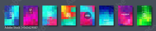 Photo Polygonal abstract background with squares