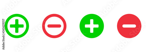 Cuadros en Lienzo vector set of mathematical symbols - plus and minus