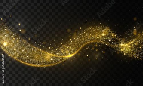 Obraz Gold glitter wave - fototapety do salonu