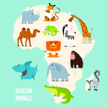 Vector Map Of Africa With Anim...