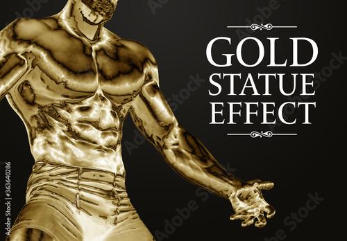Obraz Gold Filter Photo Effect Mockup - fototapety do salonu