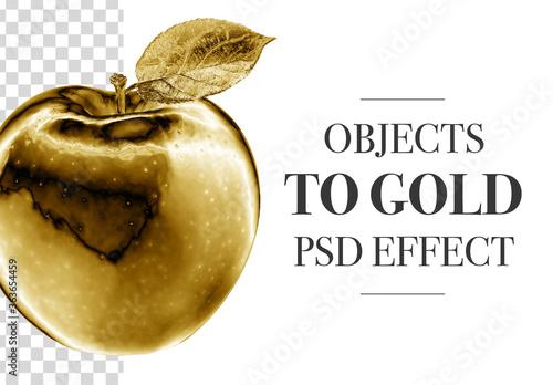 Obraz Golden Object Effect - fototapety do salonu