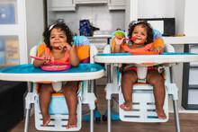 Identical Adorable Twin Girl O...
