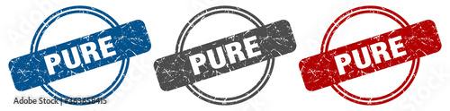 Foto pure stamp. pure sign. pure label set