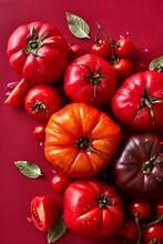 Ripe Fresh Heirloom Tomatoes
