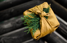 Homemade Linen Wrapped Present