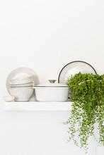 Kitchen Wall Shelf With White ...