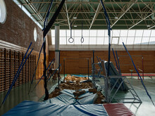 Assault Course In Gymnastic Gym